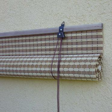bamboo roll-up blinds