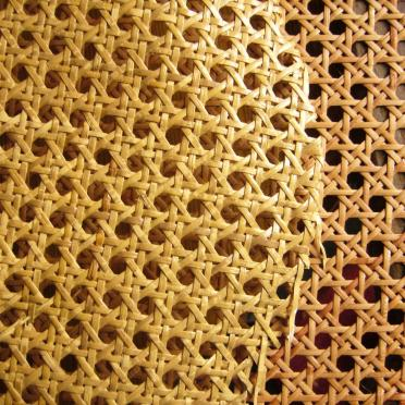 painting of open rattan webbing